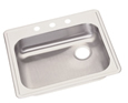 Elkay - GE12521L3 - Dayton Sink Bowl - 3 Holes, Drain on Left Side